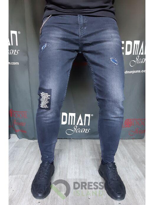 Модные джинсы с цепью