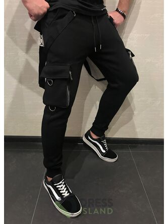 Спортивные штаны со стропами GLR Sport флис (301)