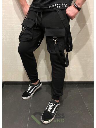 Спортивные штаны со стропами GLR Sport флис (302)