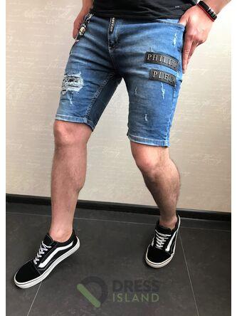 Джинсовые шорты Philipp Plein (0267)