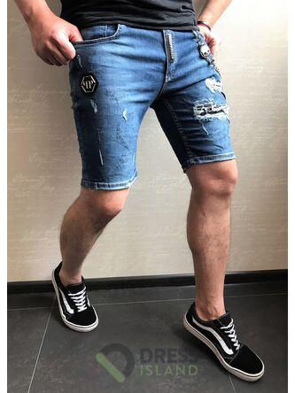Джинсовые шорты Philipp Plein (0268)