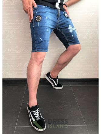 Джинсовые шорты Philipp Plein (0383)
