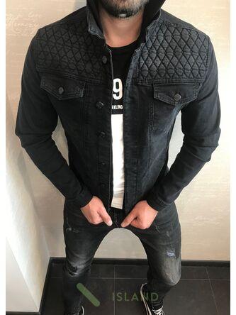 Джинсовая куртка John Lucca с капюшоном (543)