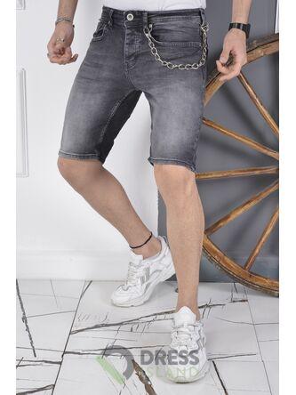 Джинсовые шорты DSQUALA полубатал (7125)