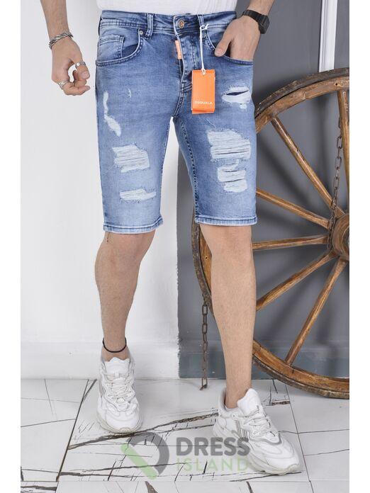 Джинсовые шорты DSQUALA полубатал (7139)